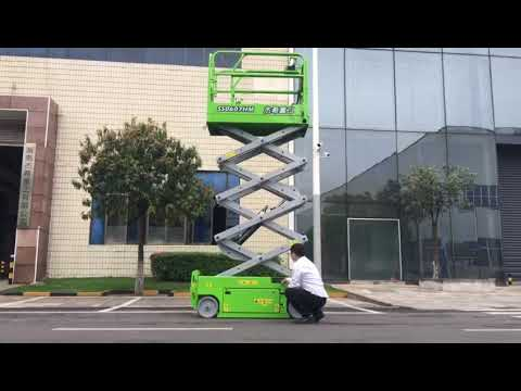 High impact aerial working platform 6m 230kg capacity mini hydraulic scissor lift for warehouse