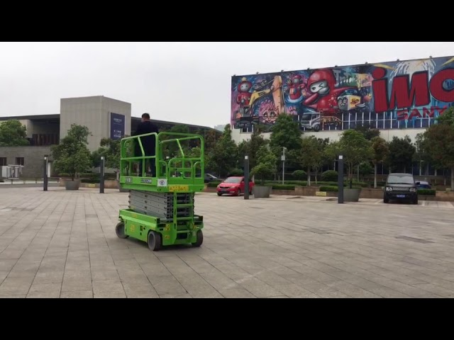 Automatic Electric Scissor Lift With 13m lifting height and 320kg load capacity for building