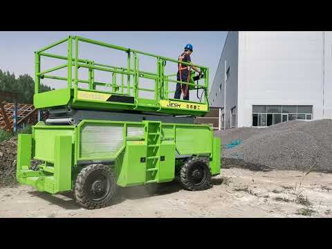 Diesel Engine 18m 700kg Capacity Self Propelled Scissor Lift for Outdoor maintanence