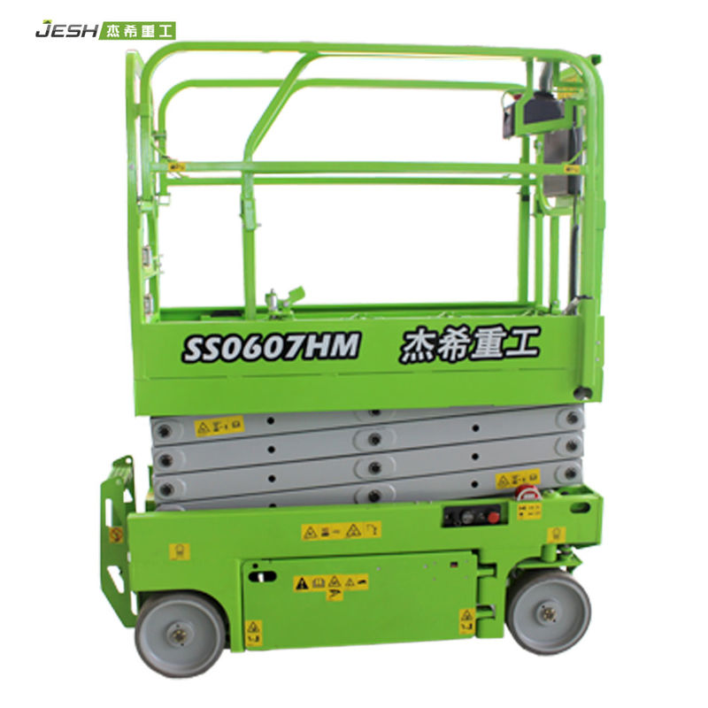 High impact aerial working platform 6m 230kg capacity mini hydraulic scissor lift for warehouse supplier