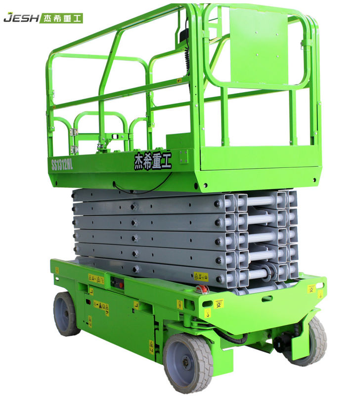 SS1312HL Mobile 13m hydraulic Scissor Lift Platform For Indoor supplier